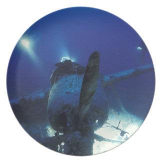 Micronesia, Palau, World Heritage Site. Divers Melamine Plate