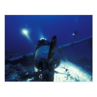 Micronesia, Palau, World Heritage Site. Divers Postcard