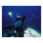 Micronesia, Palau, World Heritage Site. Divers Poster