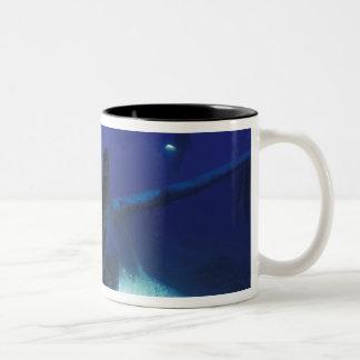 Micronesia, Palau, World Heritage Site. Divers Two-Tone Coffee Mug