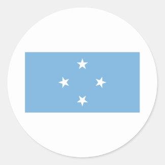 Micronesia Pegatina Redonda