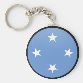 Micronesia quality Flag Circle Basic Round Button Keychain