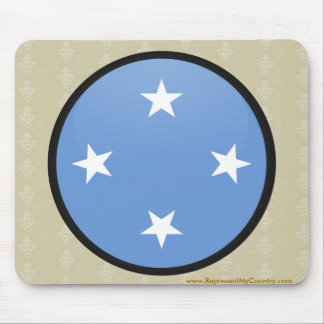 Micronesia quality Flag Circle Mouse Pad