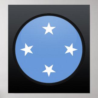 Micronesia quality Flag Circle Poster
