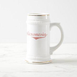 Micronesia Revolution Style 18 Oz Beer Stein