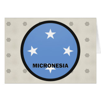 Micronesia Roundel quality Flag Greeting Card