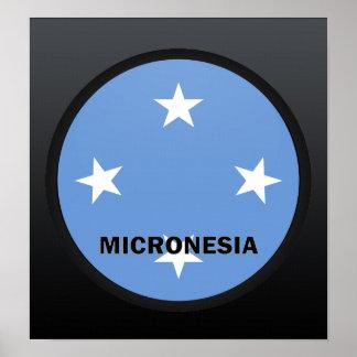 Micronesia Roundel quality Flag Poster
