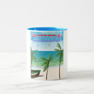 "Micronesia ""Travel into adventure"" Two-Tone Coffee Mug"