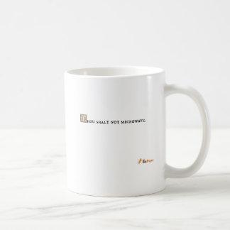 Microonda del shalt de mil no tazas de café