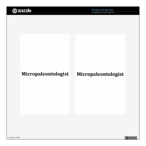 micropaleontologist decal for kindle fire