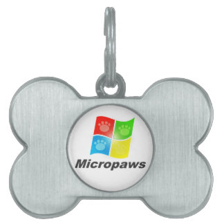 Micropaws Geek Dog Pet Name Tags