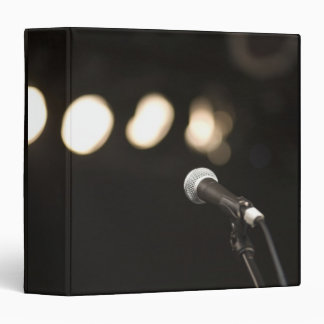 Microphone and Spotlights 3 Ring Binder