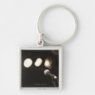 Microphone and Spotlights Keychain