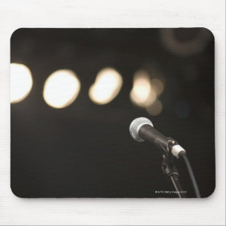 Microphone and Spotlights Mouse Pad