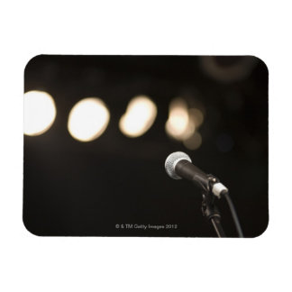 Microphone and Spotlights Rectangle Magnet