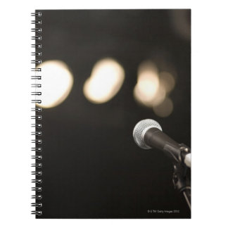 Microphone and Spotlights Spiral Notebook