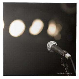 Microphone and Spotlights Tile