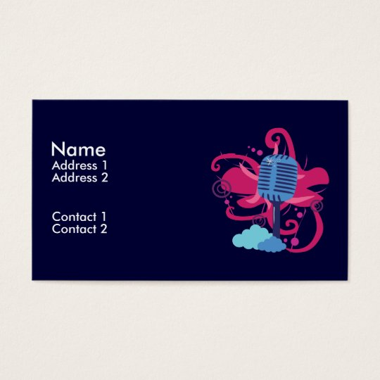 Microphone Art Explosion Business Cards