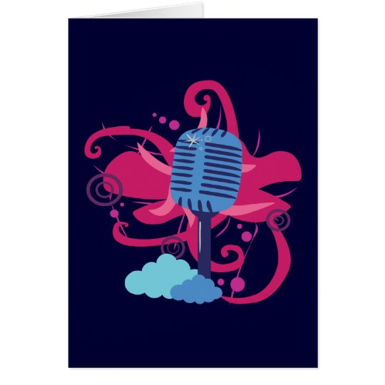 Microphone Art Explosion Card