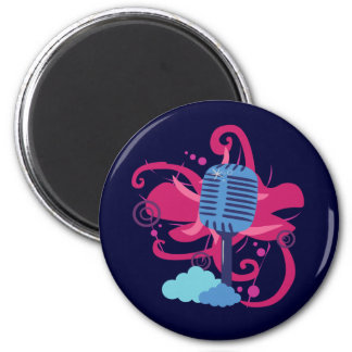 Microphone Art Explosion Magnet