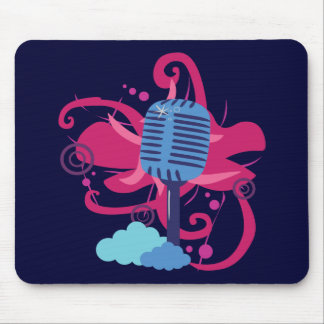 Microphone Art Explosion Mouse Pad