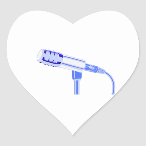 Microphone Blue and White Side View Graphic Sticker