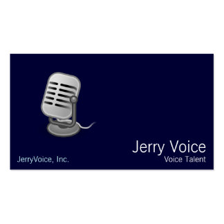 Microphone Business Card Templates