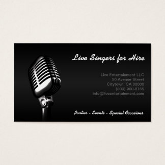 """Microphone"" Business Card"