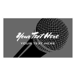 Microphone business card template logo design