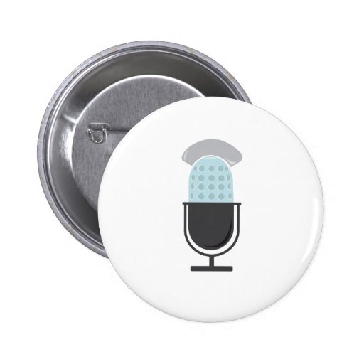 Microphone Pinback Buttons