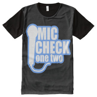 Microphone Checker All-Over Print T-shirt