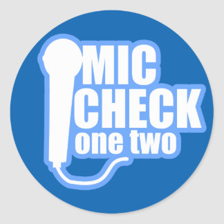 Microphone Checker Classic Round Sticker