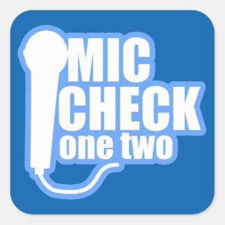 Microphone Checker Square Sticker