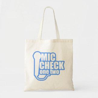 Microphone Checker Tote Bag