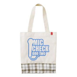 Microphone Checker Zazzle HEART Tote Bag