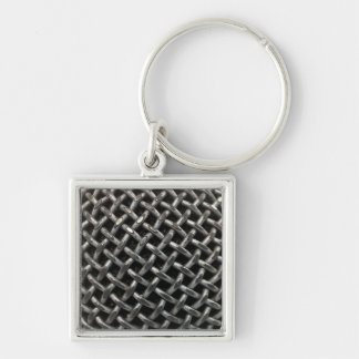 Microphone Close Up Keychain