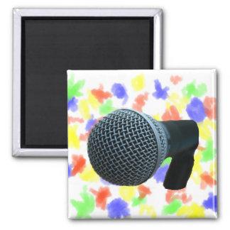 Microphone close up mic cutout design magnet