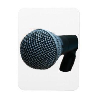 Microphone close up mic cutout design magnets