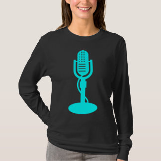 Microphone - Cyan T-Shirt