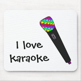 microphone disco mouse pad