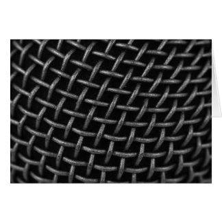 Microphone Grid Background Card