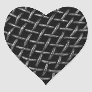Microphone Grid Background Heart Sticker