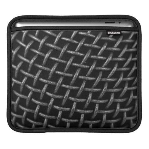 Microphone Grid Background iPad Sleeves