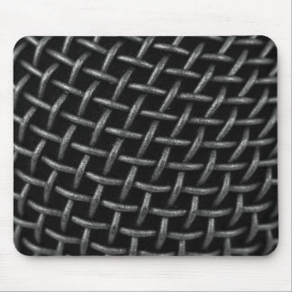 Microphone Grid Background Mouse Pad