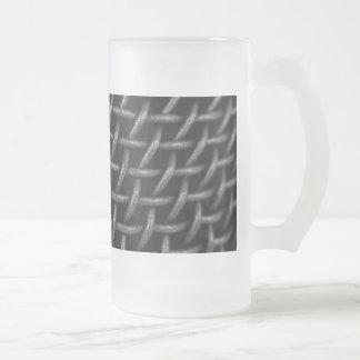 Microphone Grid Background Mug