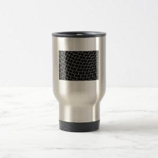 Microphone Grid Background Mugs