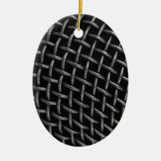 Microphone Grid Background Ornaments