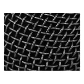 Microphone Grid Background Postcard