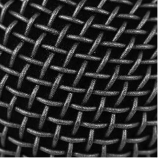 Microphone Grid Background Statuette