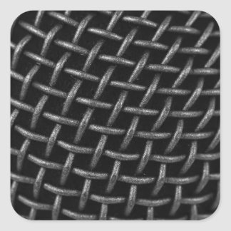 Microphone Grid Background Square Sticker